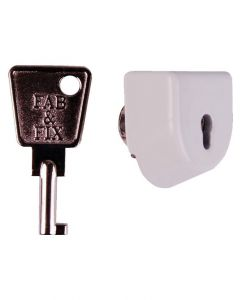 Fab Fix White Sash Jammer Lock Only - Allows Jammer To Key Lock