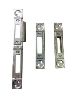Gridlock E Series 3 Part Latch Dead Bolt Keep Striker Plates Set