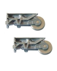 Inline Patio Door Single Steel Wheel Roller Bogie Pair