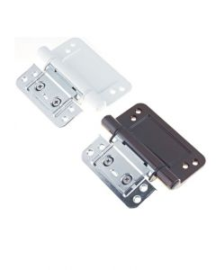 Trojan Composite 3D Rebate Fix Door Hinge White Or Brown Adjustable