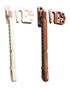 Upvc Casement Tilt Turn Window Ventilation Restrictor Arm White Brown