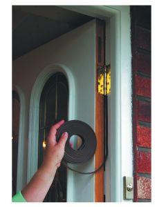 Stormguard EPDM Self Adhesive Door Draught Seal Gasket E Shape Brown