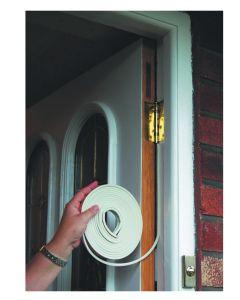 Stormguard EPDM Self Adhesive Door Draught Seal Gasket E Shape White