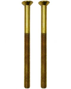 Upvc Gold Door Handle Bolt Screws  5mm x 75mm Long Dome Head Pair M5
