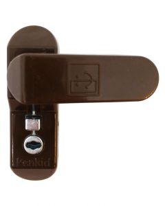 Penkid Lockable Sash Jammer Upvc Security Bolt -Brown