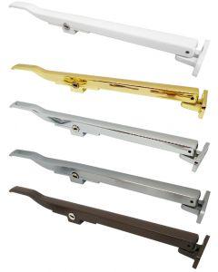 Timber Window Casement Stay Arm Lockable Satin Silver