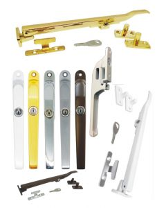 Timber Window Casement Stay Arm Lockable & Wood Window Handle Fastener