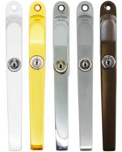 Timber Window Handle Fastener Lockable Polished Gold