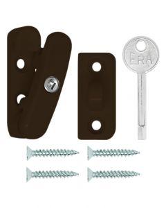 ERA Timber Casement Window Swinglock Security Sash Locking Bolt Brown