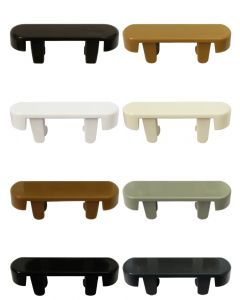 Upvc Rectangular Drain Slot Cover Caps 8 Upvc Colour Options Bag Of 10