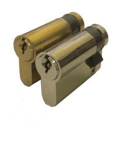 Euro Profile Half Size Garage Door Cylinder Blank Ext Gold Silver