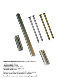 Gardinia Upvc Door Handle Spindles, Screws, Sleeve Shims Repair Parts