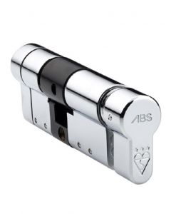 ABS Quantum Thumb Turn Euro Cylinder Door Lock Chrome 40/40mm