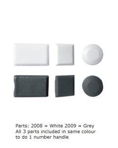 Cockspur PV300 Handle Screw Plastic Cover Caps (10 Sets Bulk Saver) - White