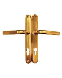 Ucem Rounded Door Handle 85mm PZ 211mm Screw Fix Gold