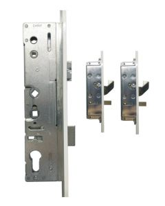 Lockmaster Paddock Door Lock 2 Hook 2 Pin 45mm Faceplate 45mm Backset
