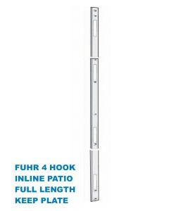 Fuhr Inline Patio Door 4 Hook Keep Striker Plate Full Length To Suit Lock