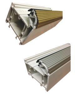 Upvc Door Bottom Threshold Rail Kick Strip 850mm Long Aluminium