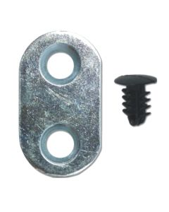 4 Door Screw Fix Point Cover Plates Allow Fixing Over Open Routed Hole