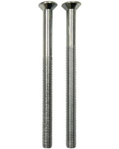Upvc Chrome Door Handle Bolt Screws  5mm x 70mm Long Dome Head Pair M5