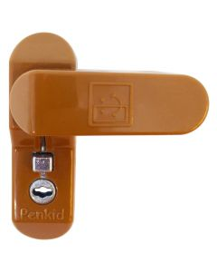 Penkid Lockable Sash Jammer Upvc Security Bolt -Caramel