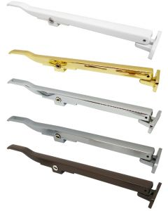 Timber Window Casement Stay Arm Lockable Polished Gold