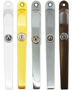 Timber Window Handle Fastener Lockable Satin Silver