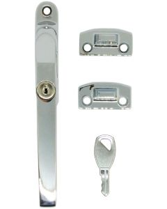 Timber Window Handle Fastener Lockable Polished Chrome