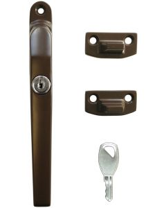 Timber Window Handle Fastener Lockable Brown