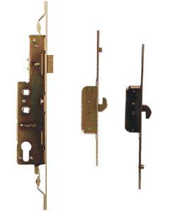 Avocet WMS Upvc Door Lock 2 Hooks 2 Rollers 35mm Backset Yellow Brassy