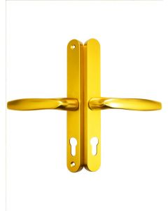 Fullex Gold Upvc Door Handle 68mm PZ 215mm Screw Fix 3840N