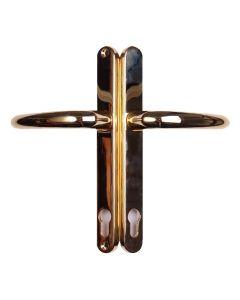 Millenco Gold Arizona Upvc Door Handle 236mm Screw Fix 117mm PZ