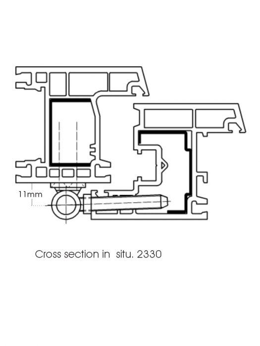 SFS Classic Upvc Door Hinge White With Screw In Pin