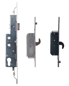 Avocet WMS UPVC Door Lock Trivalent 2 Hooks 2 Rollers 35mm Backset