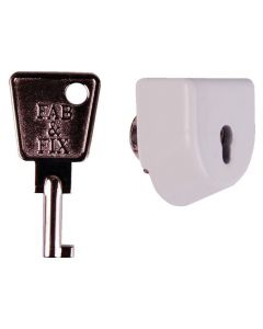 Fab Fix White or Brown Sash Jammer Lock Only Allows Jammer to Key Lock