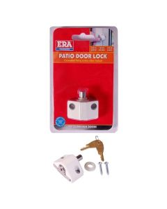 ERA Saracen Patio Door Key Locking Security Bolt Brown Silver White