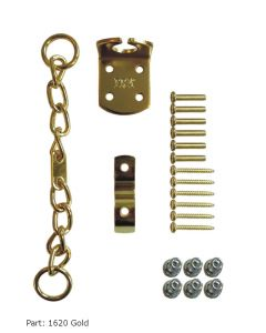 ERA Saracen Security Door Chain Upvc or Timber Gold Chrome Silver