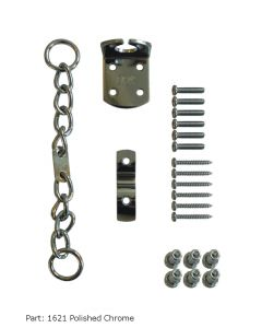 ERA Security Door Chain Upvc or Timber - Polished Chrome