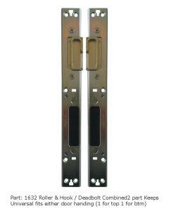 Avocet 2 Part Hook or Dead Bolt Roller Cam Lock Point Combined Keep