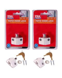 ERA Saracen Patio Door Key Locking Security Bolt Keyed Pair