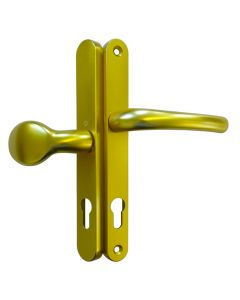 Hoppe  3620NLever Pad Offset Door Handle 92 62pz Gold 240mm Screws