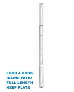 Fuhr Inline Patio Door 4 Hook Keep Striker Plate Full Length To Suit Lock