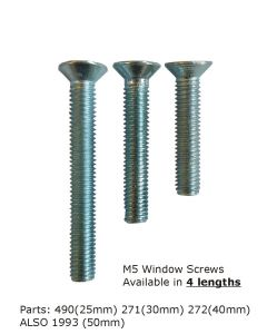 Gardinia Window Handle Fix Screw 25mm, 30mm and 40mm Long (Bag Of 10)