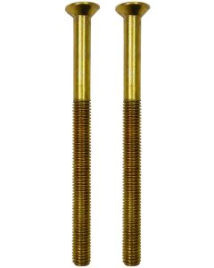 Upvc Gold Door Handle Bolt Screws  5mm x 70mm Long Dome Head Pair M5