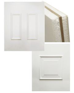 White Upvc Reinforced Panel Raised Moulding 28mm Thick Infill