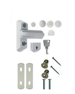 Face Fix Sash Jammer Upvc Security Bolt White Full Locking Kit