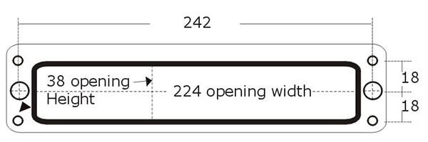 10inch Upvc / Composite Door Letterbox