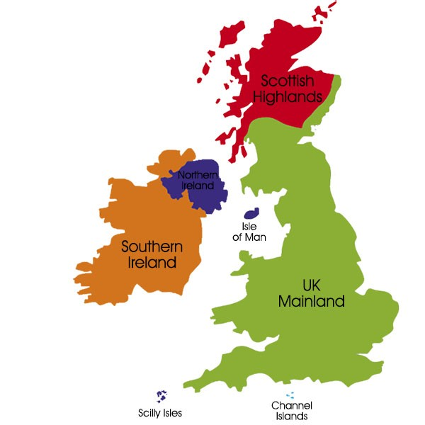S4R UK Delivery Zones Map